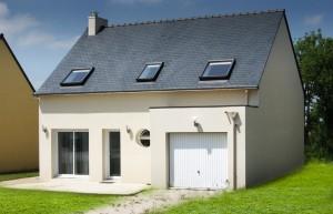maison neuve avec garage de la gamme optimo